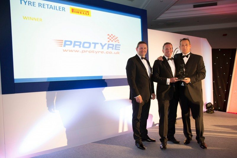 It is the fourth consecutive year that Protyre has won Tyre Retailer of the Year award at the TyreSafe awards