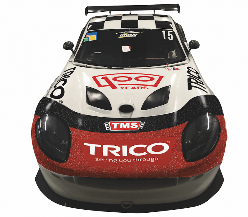 Trico sponsors Tockwith Motorsports' (TMS) Ginetta G50 in the Britcar Endurance/Sprint Championship