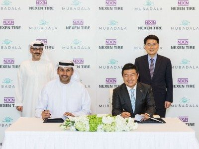 Abu Dhabi firm invests in Nexen Tire, signs MoU