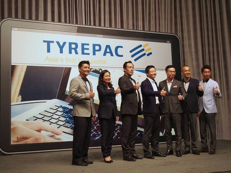 This photo from Tyrepac's Facebook page shows smiles all round at the press conference where the portal for Thailand was announced
