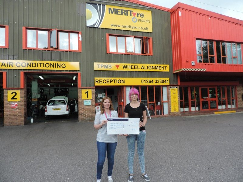 Merityre raises over £1,000 for charity from car show event