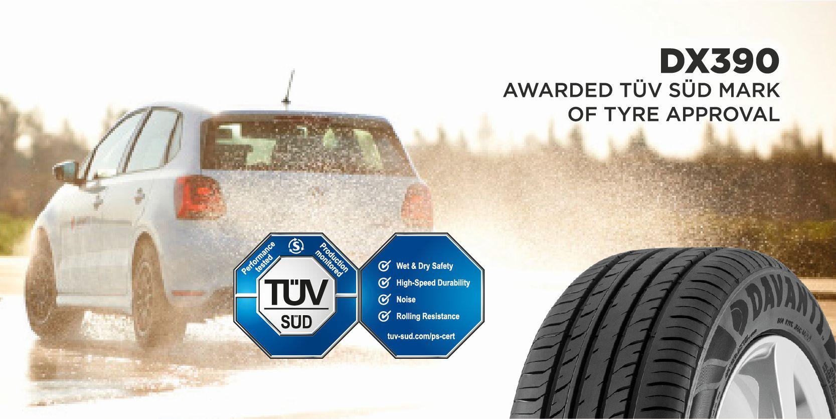 Davanti DX390 receives TÜV SÜD certification : Tyrepress