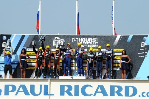 Dunlop's 15th consecutive ELMS win celebrated on the podium at Paul Ricard
