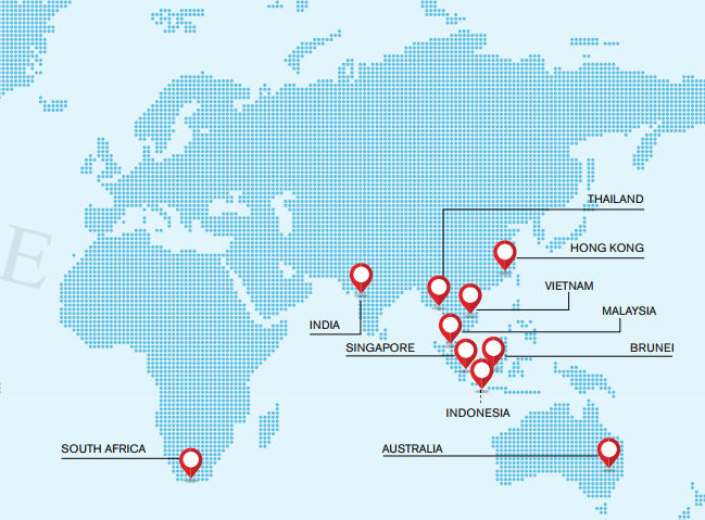 Stamford Tyres is active in a total of ten markets in Asia, Africa and Australia
