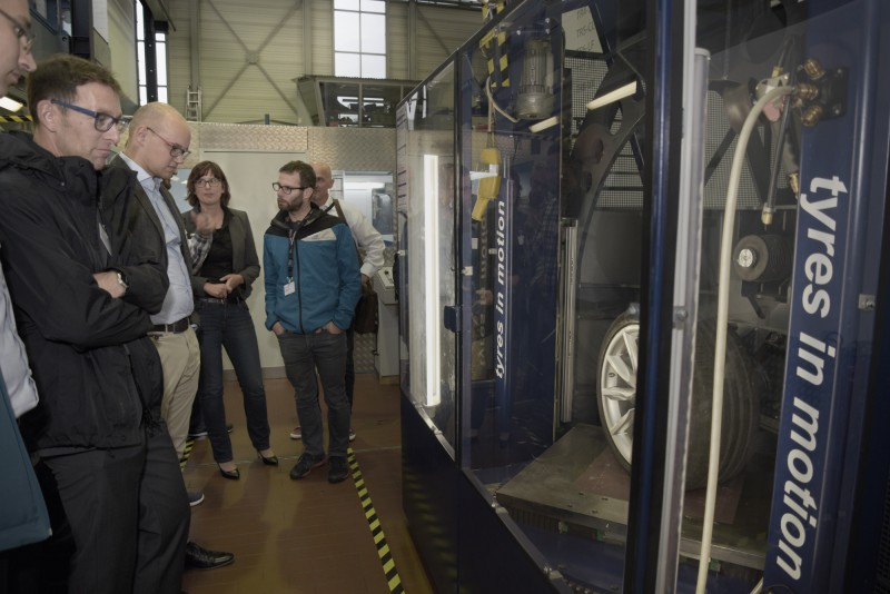 Participants had the opportunity to experience fka's extensive testing infrastructure including its new MTS Flat-Trac IV CT plus