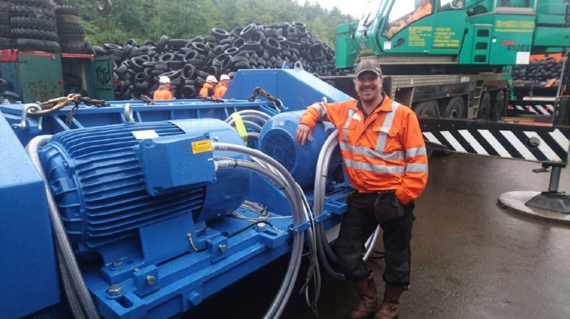 FJD recently acquired an Eldan Multi Purpose Rasper for tyre recycling