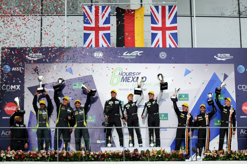 The all-Dunlop podium in the GT class in Mexico is the first ever since the WEC was formed in 2012