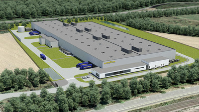And illustration of Goodyear's new, highly automated Luxembourg production plant
