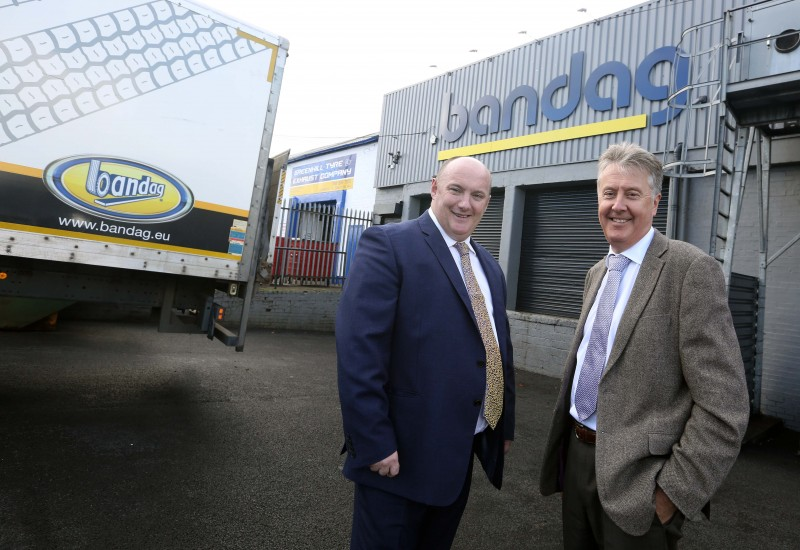 Caledonian Tyres MD Robert Keay with John Folliss, Bridgestone commercial and marketing director