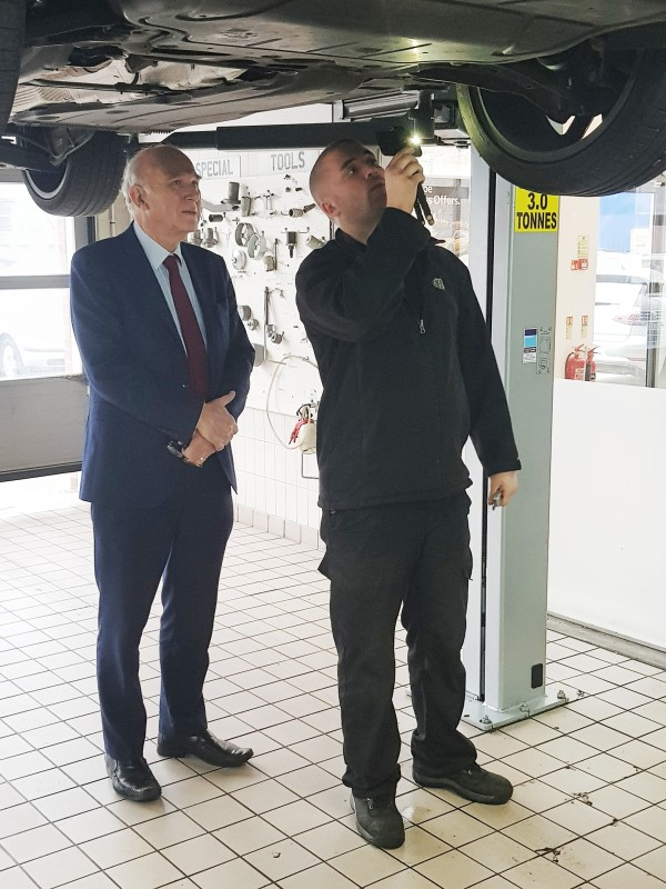 Sir Vince Cable visits NFDA member
