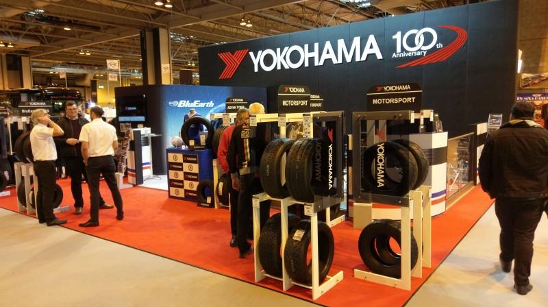 Yokohama unveil products, display Premier League trophy at Autosport International