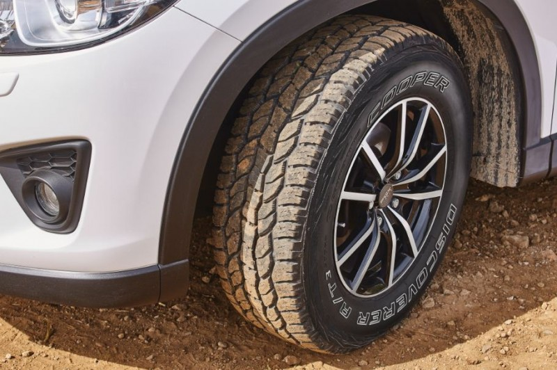 Cooper showcasing 4x4 tyres on 6x6 vehicle in Geneva