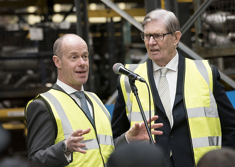 Sir Bill Cash MP opens £1 million investment at Klarius