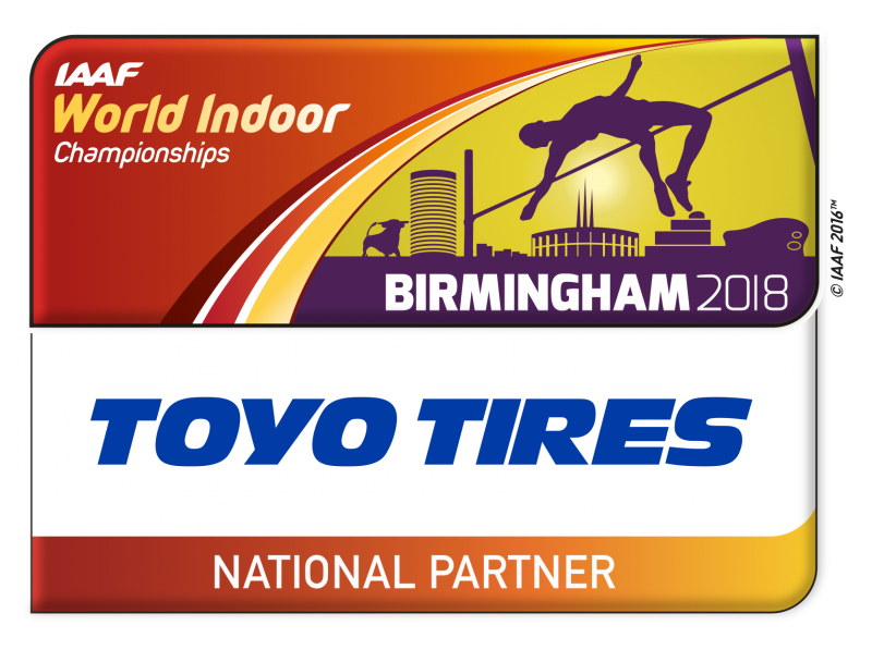 Toyo Tires becomes National Partner of IAAF World Indoor Championships