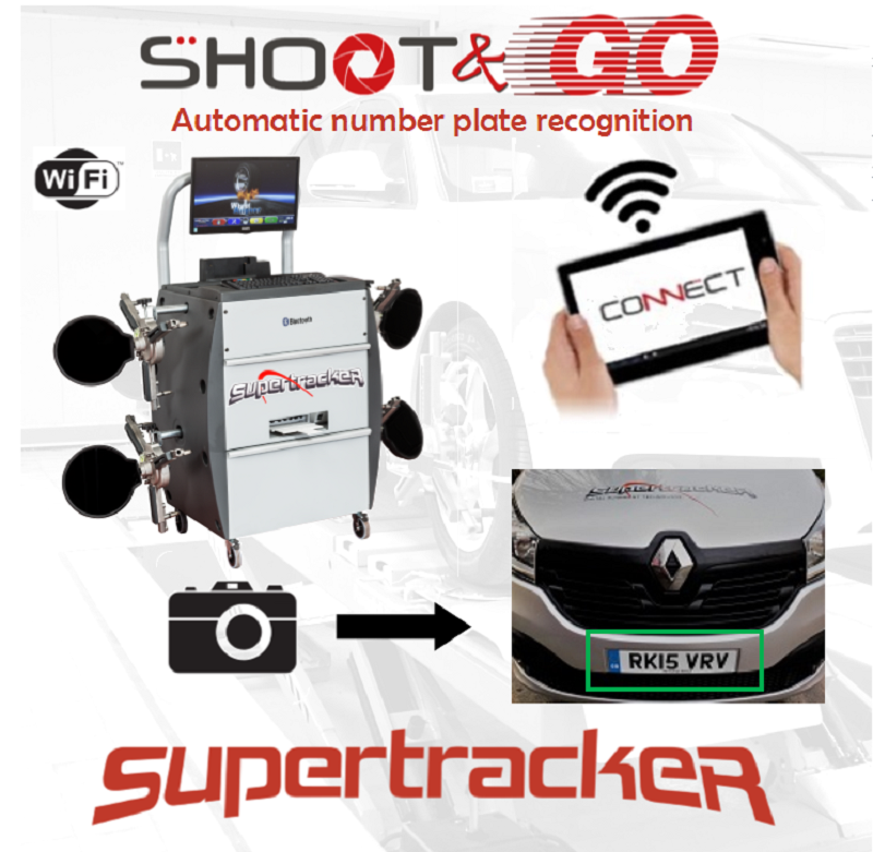 Shoot & Go streamlines the alignment process by automatically loading vehicle technical specifications via an automatic number plate recognition (ANPR) system