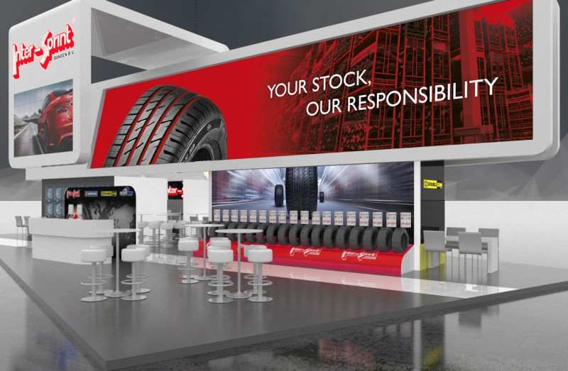 Inter-Sprint will display its ranges at this show stand; subsidiary Inter-Tire will do the same around the corner