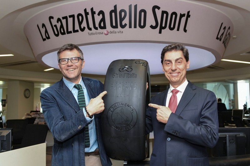Sport sponsorship: Continental official partner, tyre of Giro d'Italia