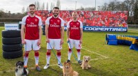 Arsenal players have 'paw-some' time in latest Cooper Tire challenge