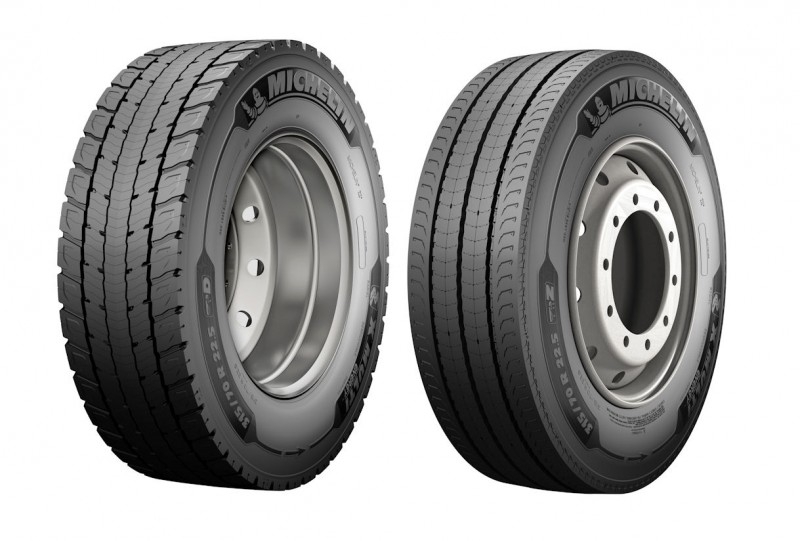 Michelin X Multi Energy D drive axle pattern (l) & X Multi Energy Z all-round fitment