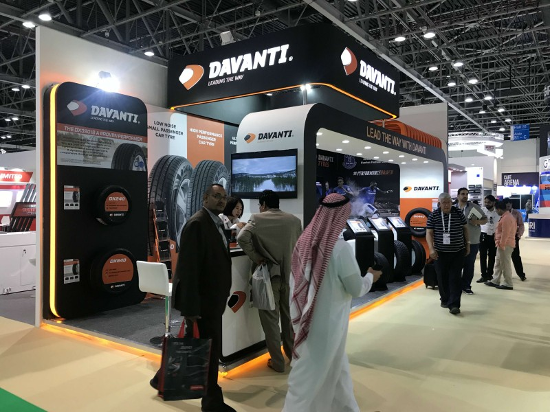 Davanti displays expanded range, including new A/T tyre at Automechanika Dubai