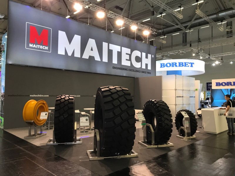 Maitech Tire's new MT111 loader, dumper tyre the star of The Tire Cologne stand