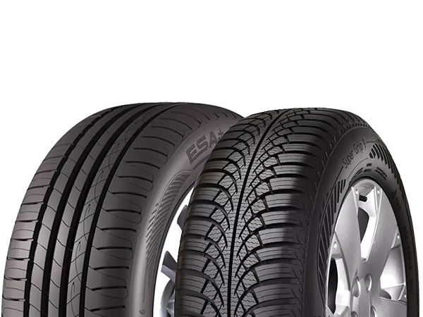 The ESA+Tecar Spirit 5 HP (l) and Super Grip 9 achieved good results in European tyre tests last year