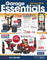The Parts Alliance's Garage Essentials summer offers