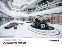 Hankook Tire: Operating profit down 10.4% in Q2 2018
