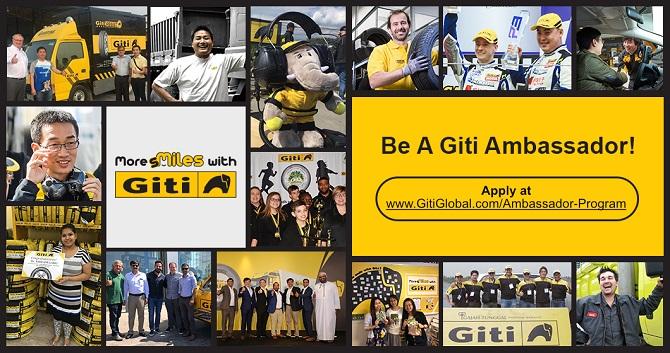 Giti Tire targeting social media influencers with Ambassador Program