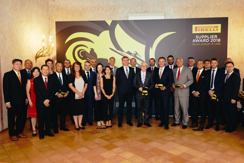 9 firms honoured at Pirelli Supplier Awards 2018