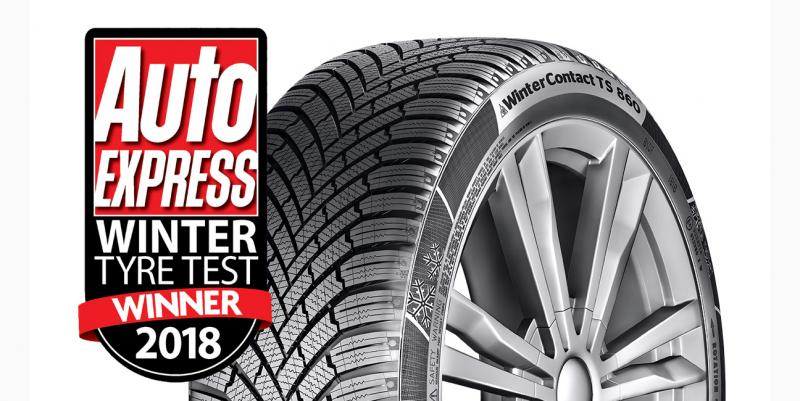 Conti Auto Express winter tyre test treble reflects VisionZero initiative