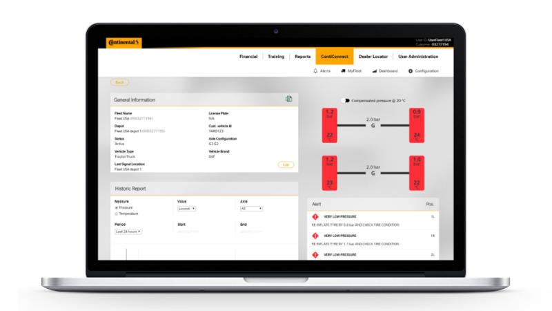 Continental adds features to ContiConnect