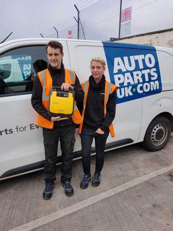 Autoparts UK equips Glasgow branch with defibrillator