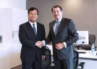 Linglong holds business investment talks with EBRD
