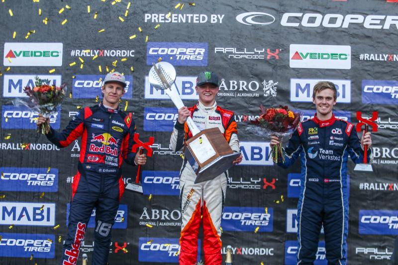 Oliver Solberg takes 2018 RallyX Nordic title on Cooper tyres