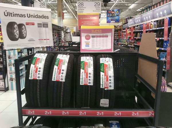 Doublestar car tyres on-sale in Carrefour Spain