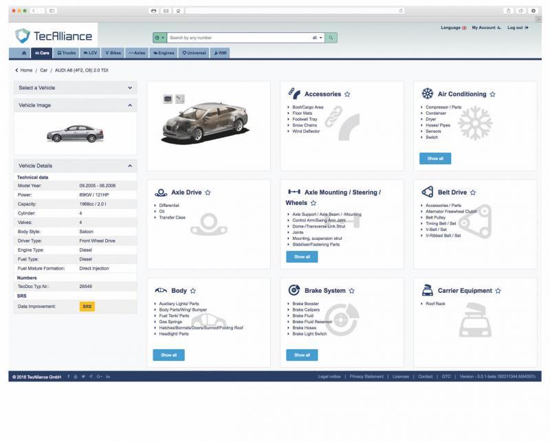 TecAlliance: TecDoc Catalogue 3.0 available