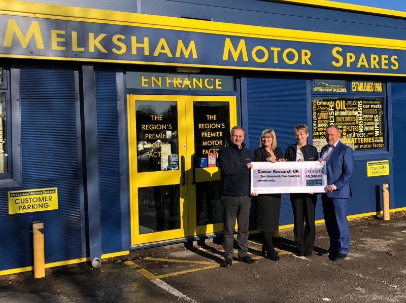 Melksham Motor Spares raise £17,500 for charity