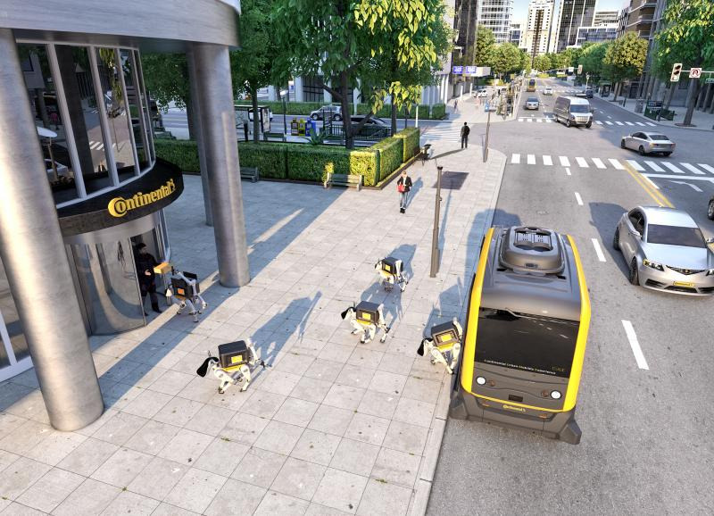 Continental considering delivery robots to accompany autonomous pods