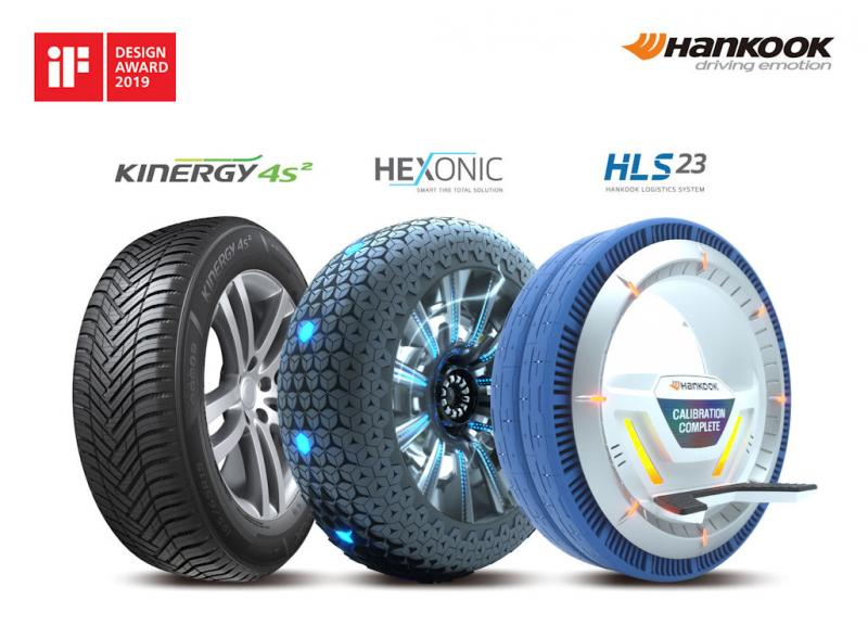 Design awards for Hankook Kinergy 4S², concept tyres