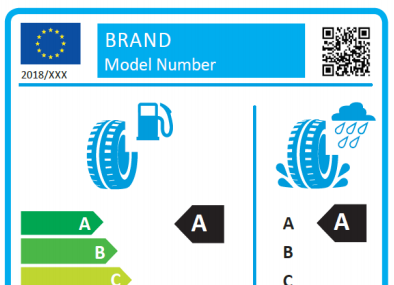 Updated EU tyre label to include snow and ice grip information
