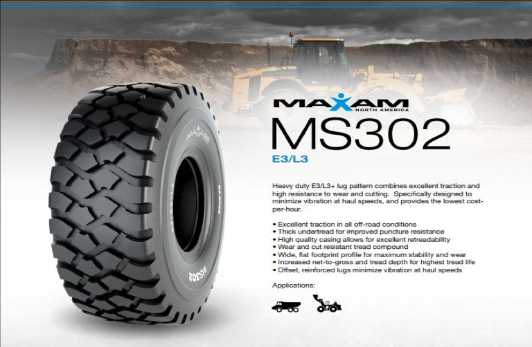 Maxam MS302 OTR tyre receives Caterpillar OEM approval