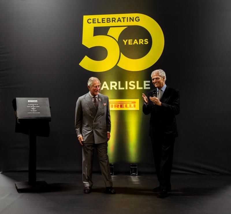 Prince Charles visits Pirelli's Carlisle tyre plant