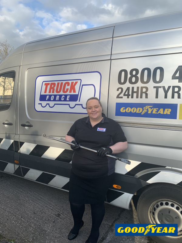 TruckForce congratulates first female C&G-qualified truck tyre technician