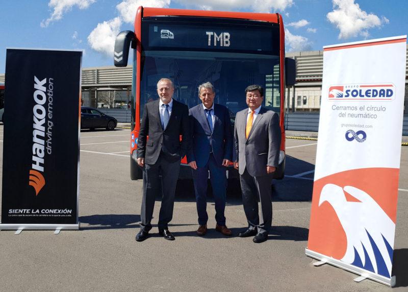 Barcelona's buses to roll on Hankook tyres