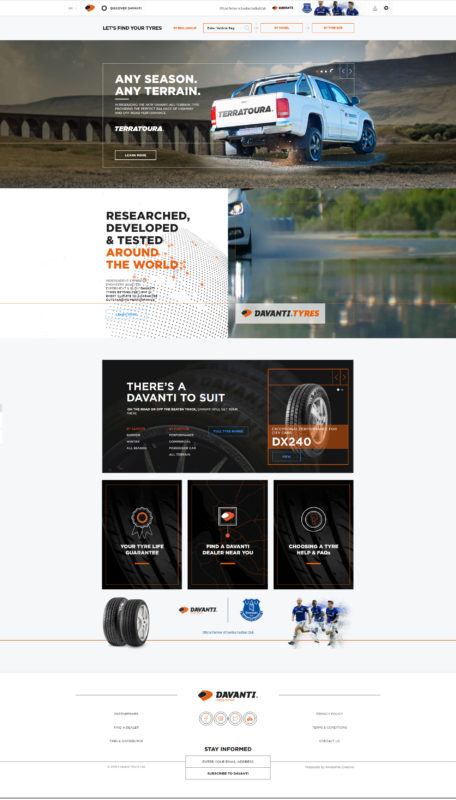 Davanti Tyres launches refreshed website