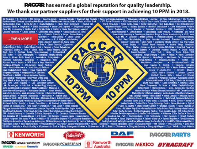 Dayco awarded Paccar quality achievement certification