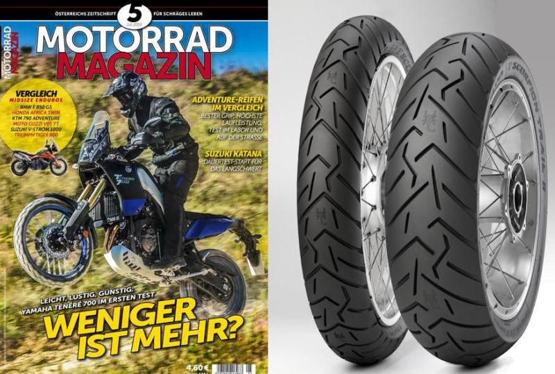 10th tyre test success for Pirelli Scorpion Trail II