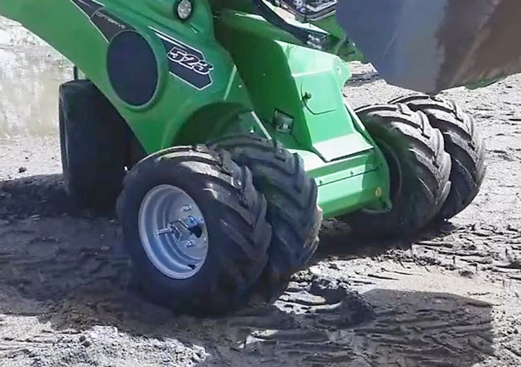 STARCO scales down dual wheel solution for loaders