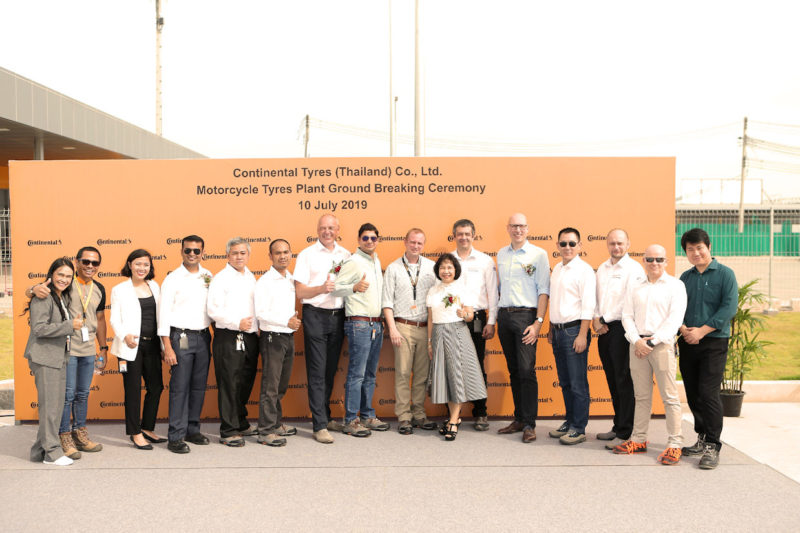 Continental starts work on motorcycle tyre plant in Thailand
